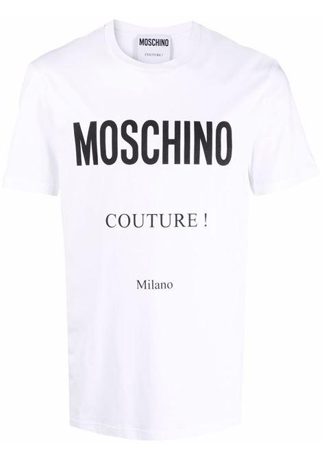 T-shirt con stampa in bianco - uomo MOSCHINO | A071952401001