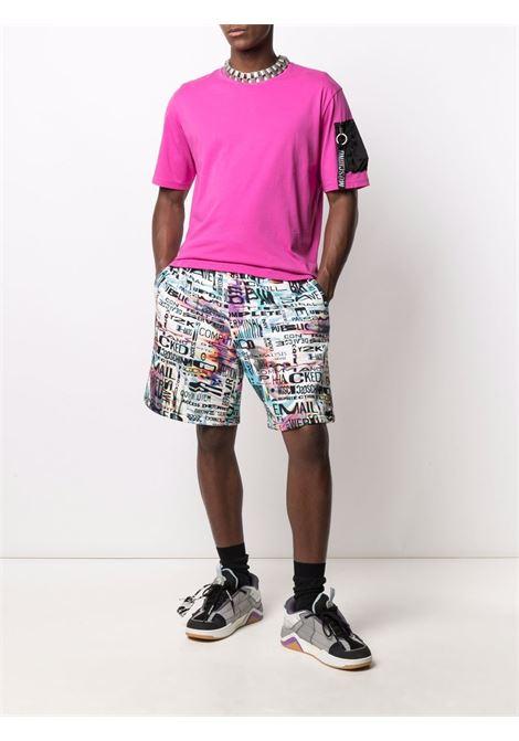 T-shirt con taschino sulla manica viola - uomo MOSCHINO | A073170404235