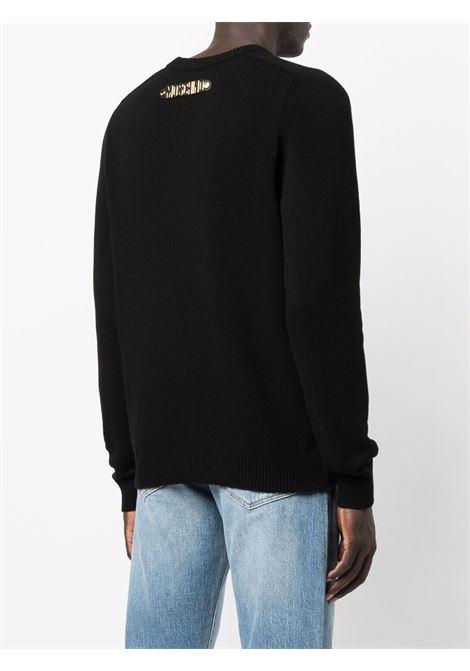 Maglione con logo posteriore in nero - uomo MOSCHINO | A09315204555