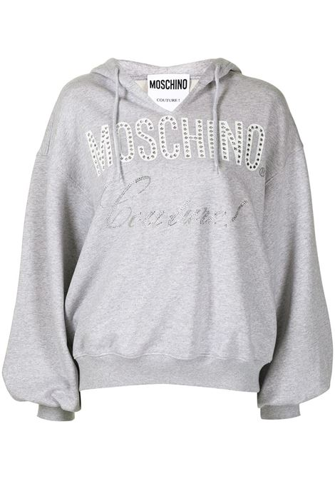 Oversized couture sweatshirt grey - women  MOSCHINO | A171555273485