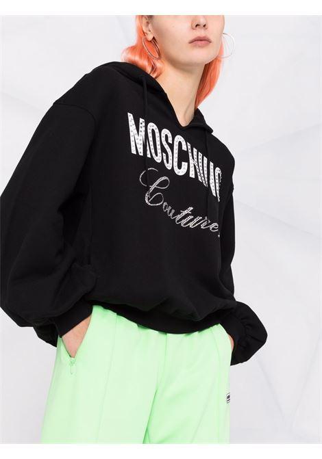 Oversized couture logo sweatshirt in black - women MOSCHINO | A171555273555