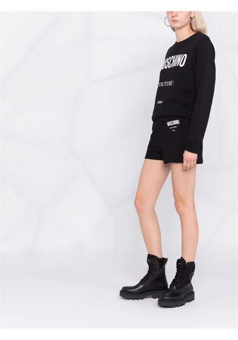 Couture logo sweatshirt in black - women MOSCHINO | A172055273555