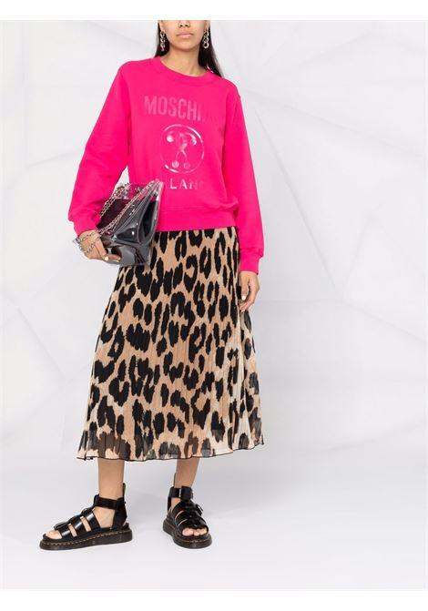 Couture logo sweatshirt in pink - women MOSCHINO | A172155273217