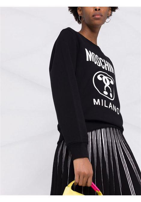 Double question mark sweatshirt black - women MOSCHINO | A172155277555