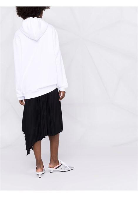 Double question mark hooded sweatshirt white - women MOSCHINO | A172255277001