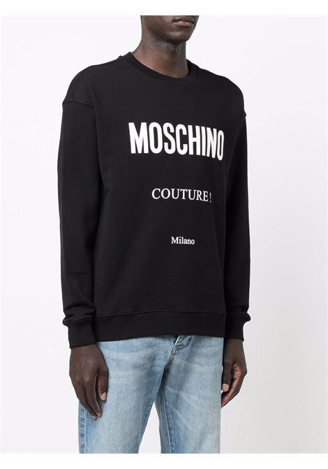 Felpa couture in nero - uomo MOSCHINO | A173052271555