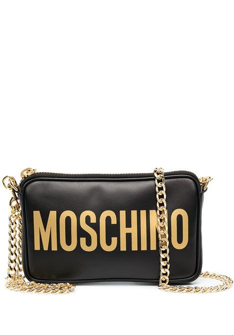 Borsa a tracolla con logo in nero - donna MOSCHINO   A742180012555
