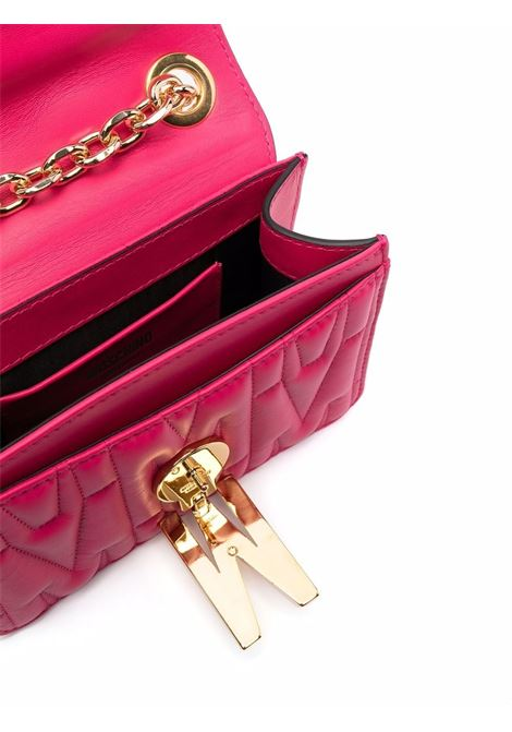 M-quilted shoulder bag in hot pink - women  MOSCHINO   A74298002217