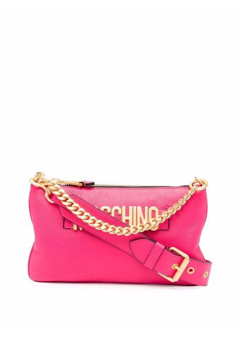Borsa tote con logo in rosa - donna MOSCHINO | A74798003217