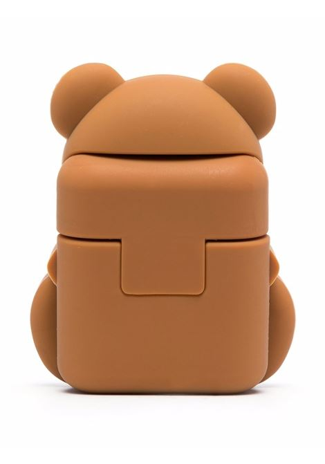 Teddy bear airpods case in brown - women  MOSCHINO | A778083051888