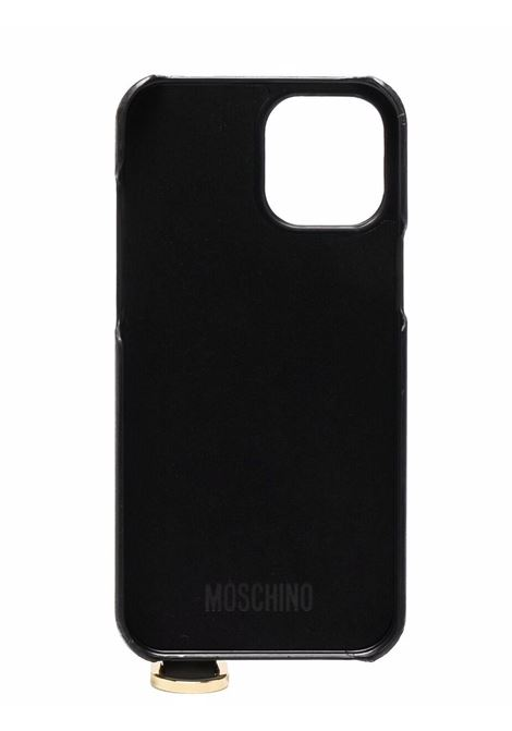 Black logo-lettering Iphone 12 Pro Max case - unisex MOSCHINO | A792183031555
