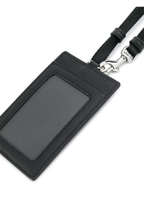 Portabadge con stampa in nero - donna MOSCHINO | A811182101555