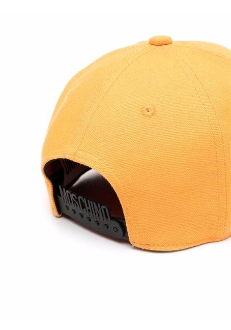 Cappello da baseball con logo in arancione - uomo MOSCHINO | A9205826663