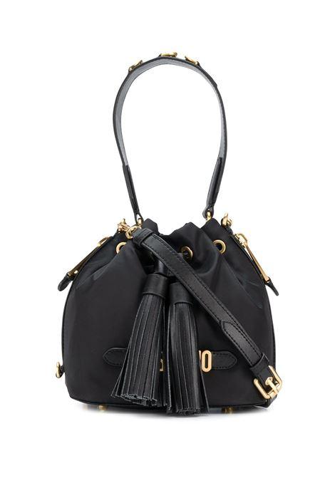 Borsa a secchiello con logo in nero - donna MOSCHINO | B741082021555