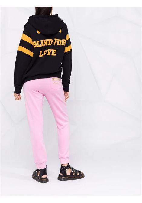 Pantaloni sportivi con stampa in rosa - donna MOSCHINO | J030554271224
