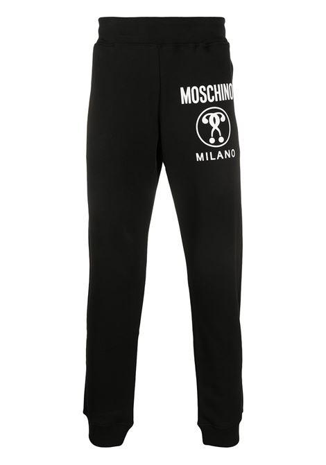 Pantaloni sportivi double question mark nero - uomo MOSCHINO | J032170271555