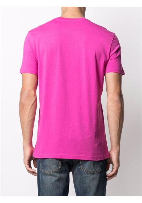 T-shirt con logo a contrasto viola - uomo MOSCHINO | J070570401235