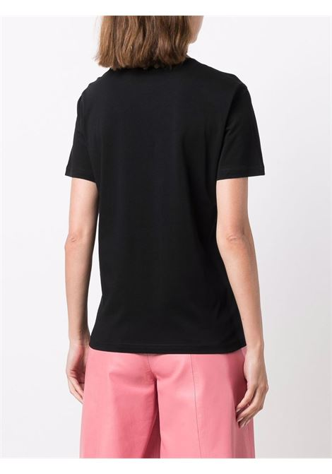 T-shirt con stampa couture in nero - donna MOSCHINO | J071155403555
