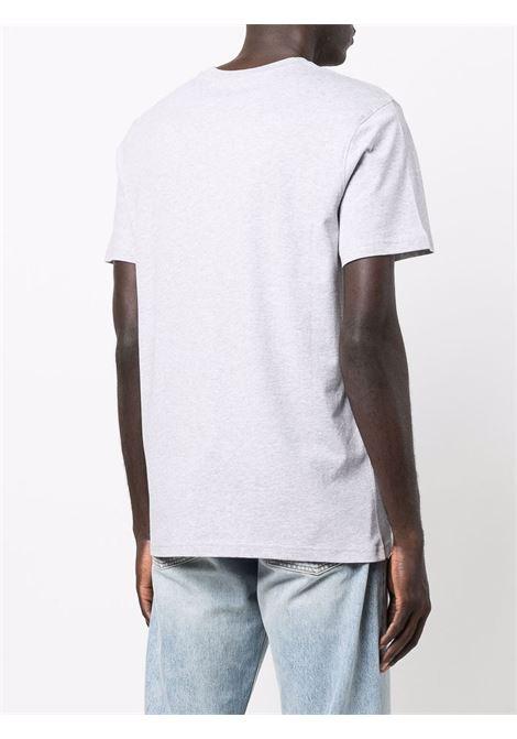 T-shirt con logo multicolore in grigio - uomo MOSCHINO | J071452401485