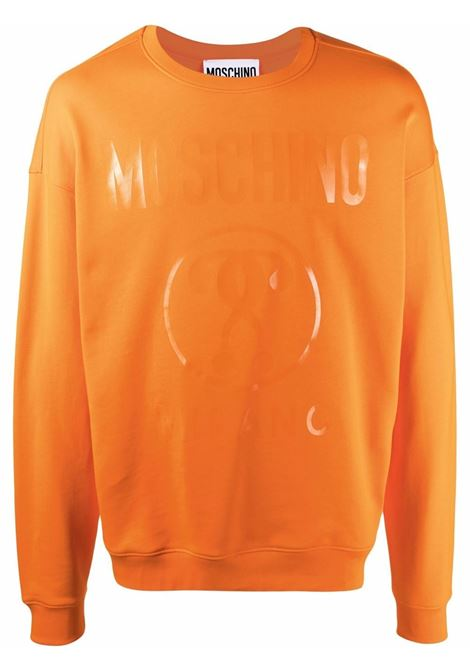Felpa double question mark arancione - uomo MOSCHINO | J1704702763