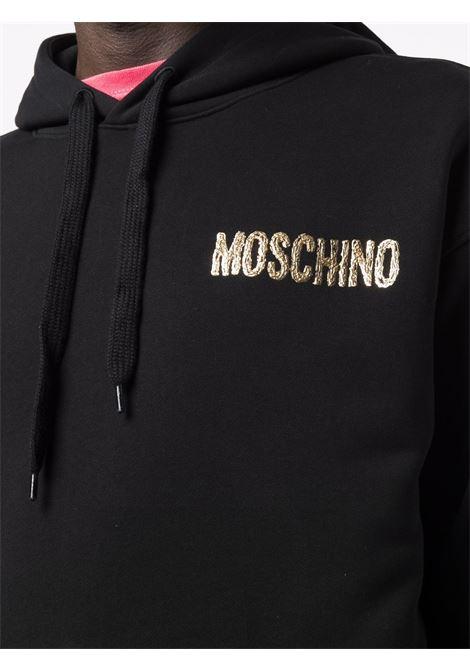 Felpa con logo 3d in nero -uomo MOSCHINO | J171652275555