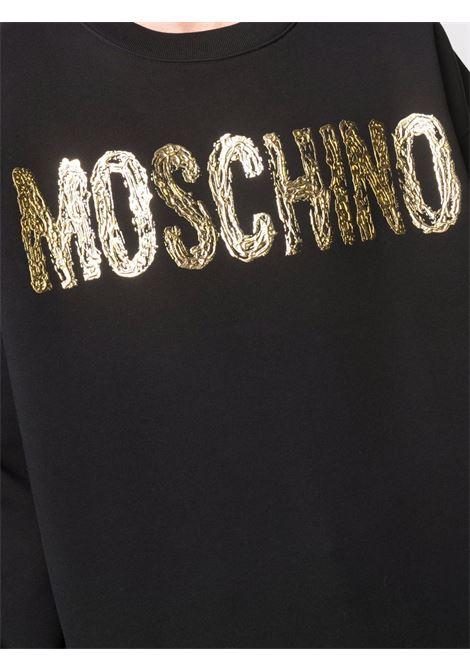 Felpa con logo 3d in nero -uomo MOSCHINO | J171752275555