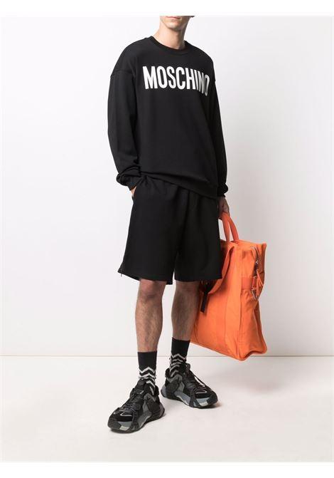 Felpa con logo a contrasto nero - uomo MOSCHINO | J171870271555