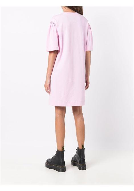 Abito T-shirt con logo in rosa - donna MOSCHINO | V045654401224