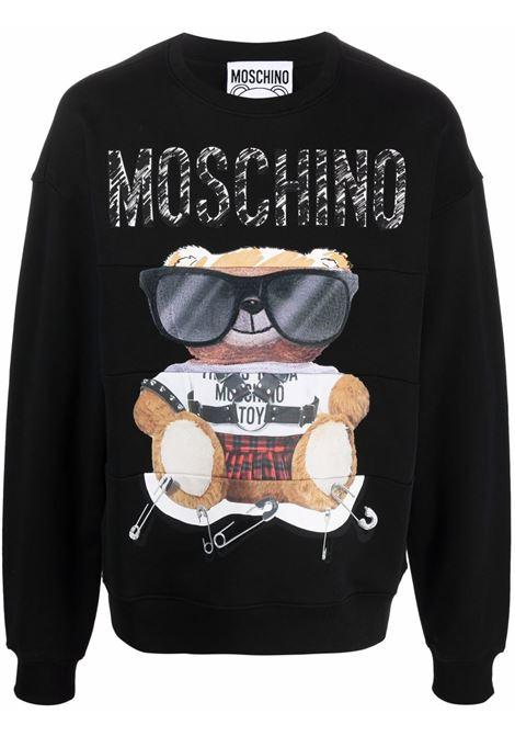 Teddy Bear-print sweatshirt in black and multicolor - women  MOSCHINO | V170252271555