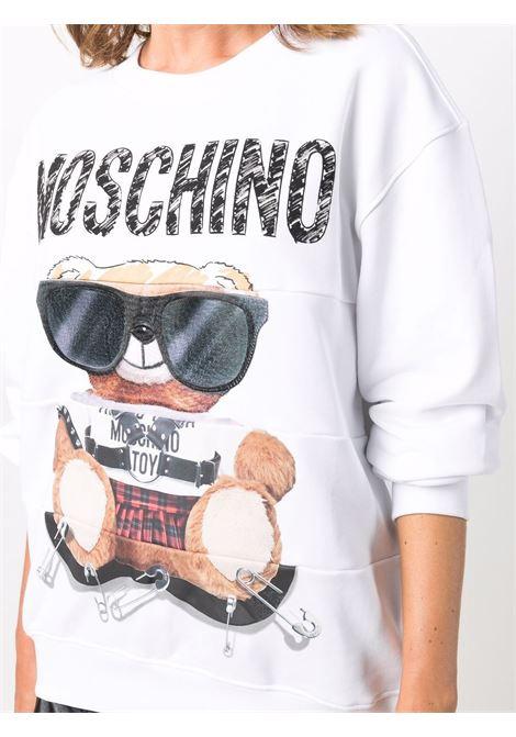 Felpa Toy Bear in bianco - donna MOSCHINO | V171355273001