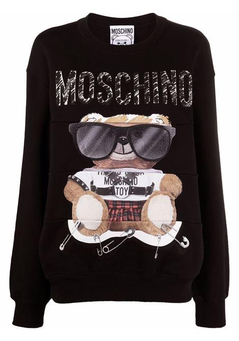 Teddy bear sweatshirt in black - women MOSCHINO | V171355273555