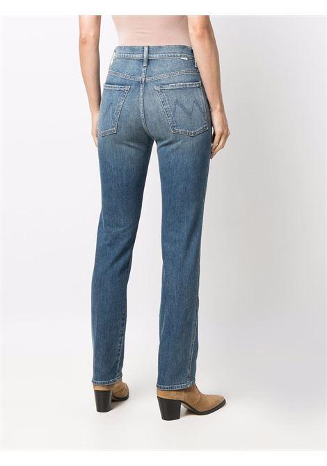 Jeans dritti con effetto schiarito in blu - donna MOTHER | 10124624LBM