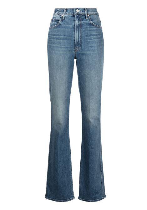 Jeans dritti a vita alta in blu - donna MOTHER | 10137259BYS
