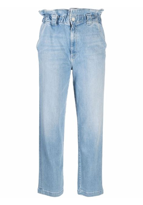 Jeans Yoyo Ruffle Greaser in azzurro - donna MOTHER | 10206686CTY