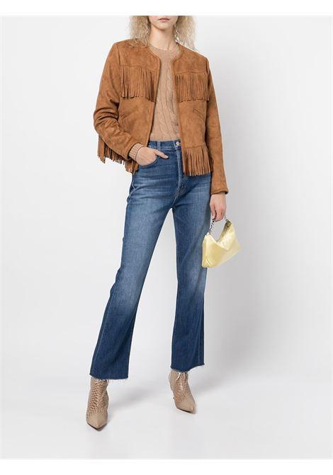 Jeans dritti a vita alta in blu - donna MOTHER | 10326624NBS