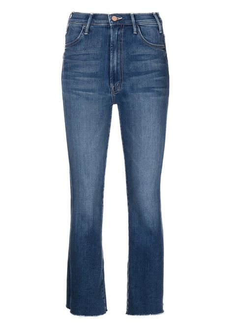 Jeans crop ankle fray in blu - donna MOTHER | 1117686BBLY