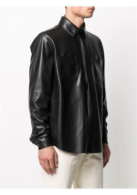 Camicia con finitura lucida nero - uomo NANUSHKA | NM20FWSH02499