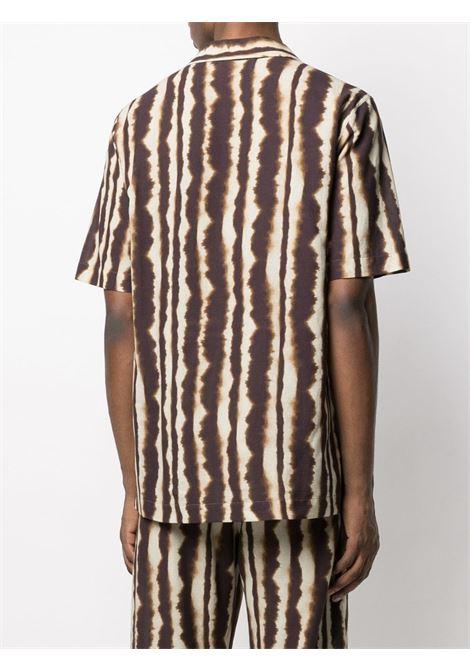 Camicia con stampa marrone - uomo NANUSHKA | NM21PFSH01177
