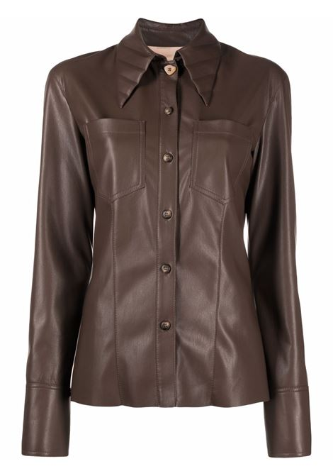 Camicia in marrone - donna NANUSHKA   NW21FWSH00676
