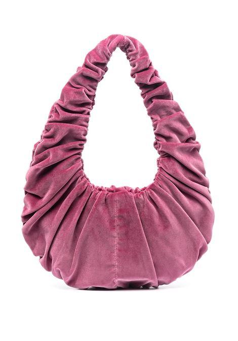 Peony-purple ruched shoulder bag - women  NANUSHKA   Shoulder bags   NW21PFBG02732