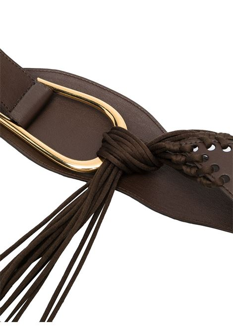 Cintura con fibbia marrone scuro - donna NANUSHKA | NW21PFBT01078