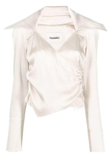 Cream white ohara blouse  - women  NANUSHKA   NW21PFTP01371