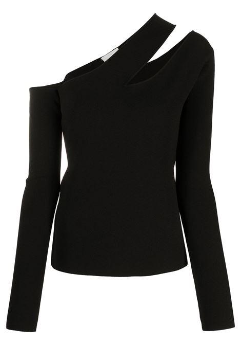 Black olivia knitted top - women  NANUSHKA | NW21PFTP02099