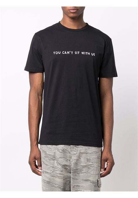 T-shirt You Can't Sit With Us con ricamo in nero - uomo NASASEASONS | T020B