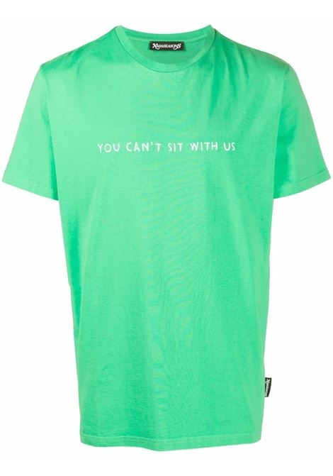 T-shirt you can' sit with us in verde - uomo NASASEASONS | T020G