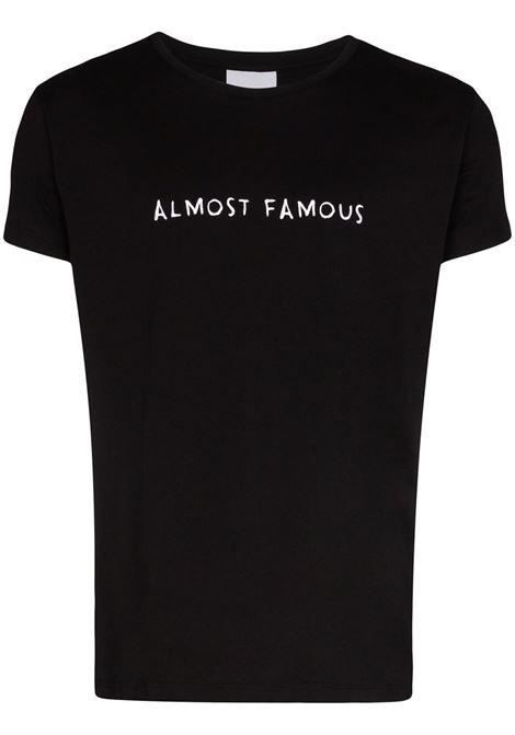 T-shirt Almost Famous con ricamo in nero - uomo NASASEASONS | T024B