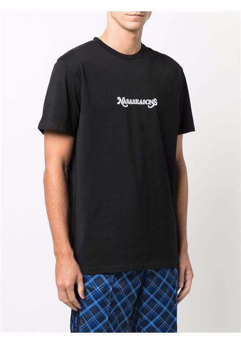 T-shirt con logo ricamato in nero - uomo NASASEASONS | T052B