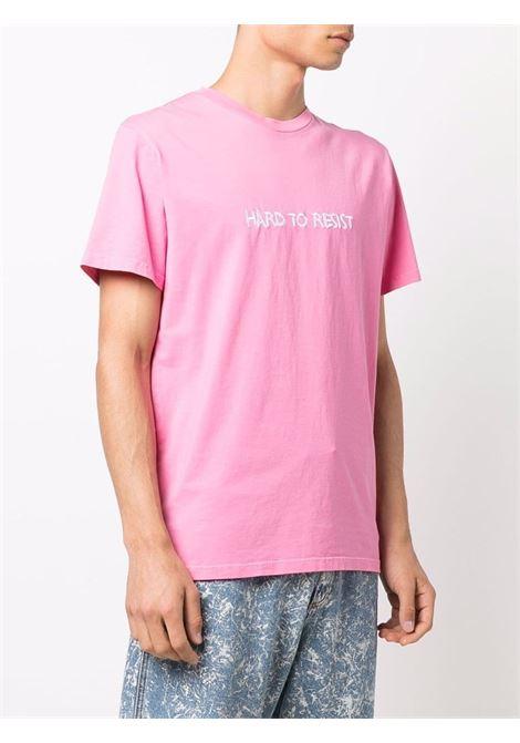 T-shirt con ricamo in rosa e bianco - uomo NASASEASONS | T054P