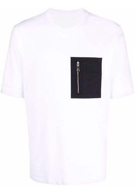 T-shirt con taschino in bianco - uomo NEIL BARRETT | BJT027R547S526