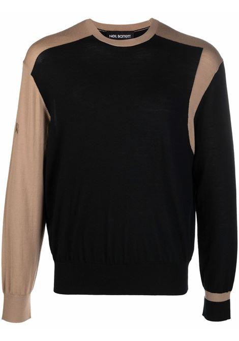 Black two-tone jumper - men  NEIL BARRETT | BMA008ER606C014